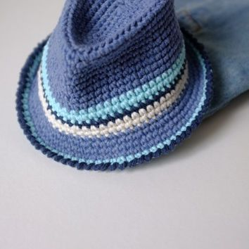 Knitting Pattern Trilby Hat : Fedora hats, Hat crochet patterns and Google on Pinterest