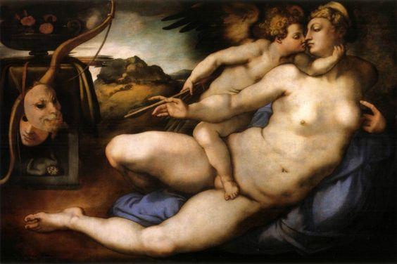 Venere e Amore, da Michelangelo, 1533 ca. (Pontorno)