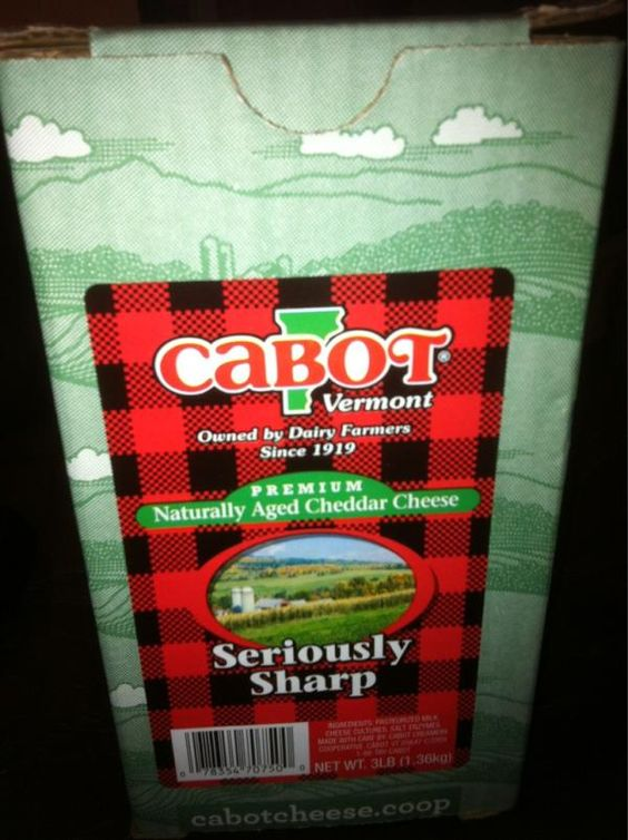 """And I quote...""""A brick of Seriously Sharp Cabot Cheddar = best Christmas gift ever""""!"""