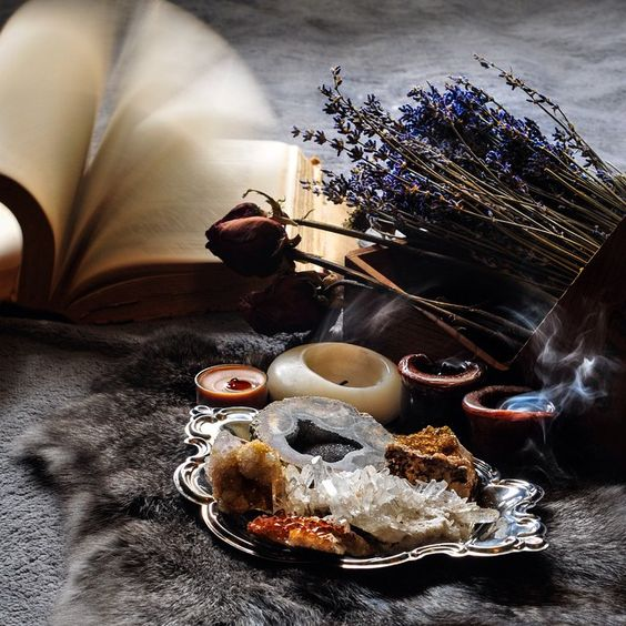 Magic | wicca | stones and herbs | witchcraft | altar: