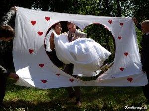 Das Hochzeitsherz im Einsatz