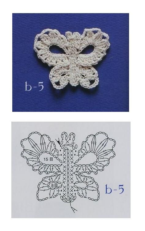 Crocheted Butterfly: