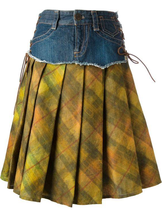 Jean Paul Gaultier Vintage Denim Layer Skirt - House Of Liza - Farfetch.com