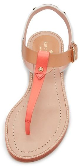 simple kate spade leather thong sandal