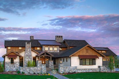 House Plan 341 00025 Luxury Plan 5 250 Square Feet 4 Bedrooms 4 5 Bathrooms In 2021 Craftsman House Texas Style Homes Mountain House Plans