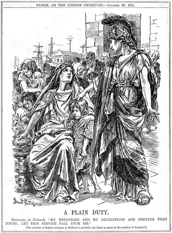 """""""A Plain Duty"""". Cartoon by Bernard Partridge. Published in Punch 28th October 1914"""
