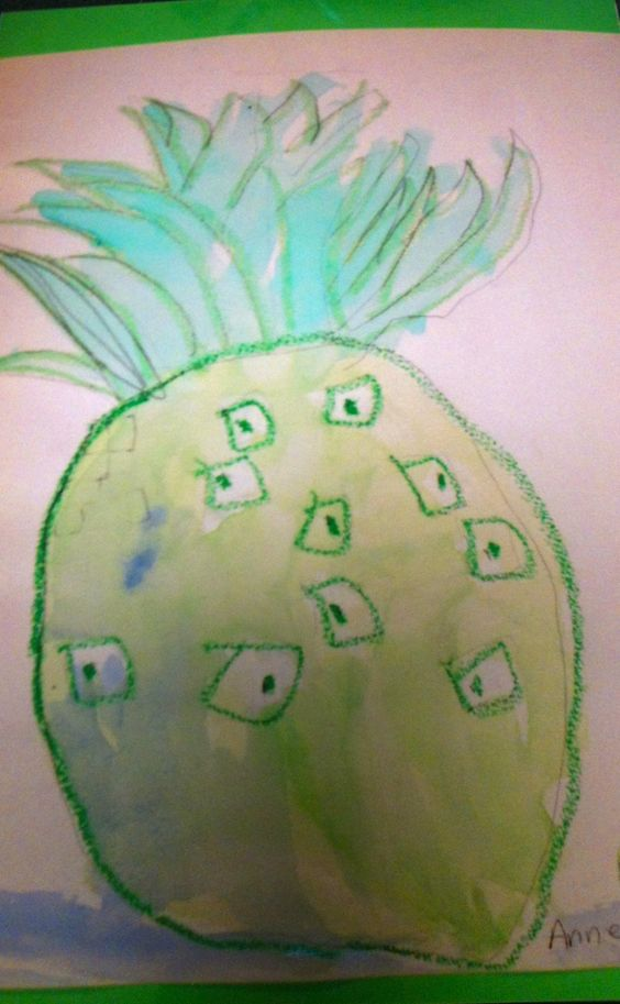 Using oil pastel and watercolor ~ student art work at TaDa! art studio in Marble Falls, TX