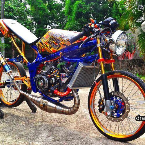 Gambar Drag Ninja 2 Tak Modif Street Racing Drag Racing Motor Modifikasi Sepeda Balap