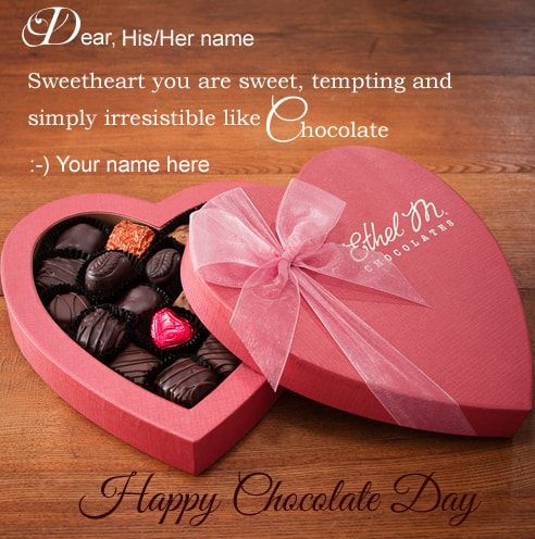 Happy Chocolate Day Wishes- Images of Chocolate Day 2018 Wishes ...