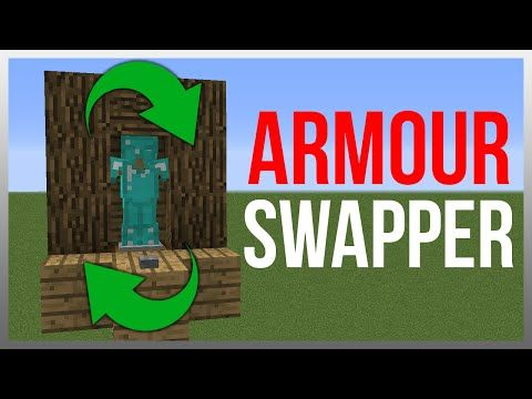 Minecraft 1.10: Redstone Tutorial - Armour Stand Swapper! (NEW VERSION IN DESC) - YouTube