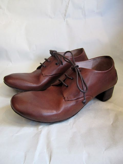 MARSELL CLOSED TOE HEELED OXFORD / COLOR : BROWN