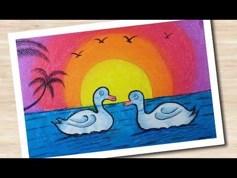 Swan Drawing Very Easy Simple Painting For Beginners Teach View Da Paintings