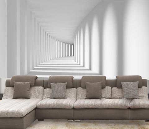 White Illusion Wallpaper Wallpaper Living Room Living Room Background Modern Wallpaper Bedroom