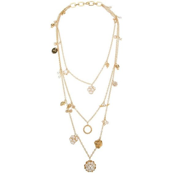 ALEXANDER MCQUEEN layered charm necklace ($1,498) ❤ liked on Polyvore