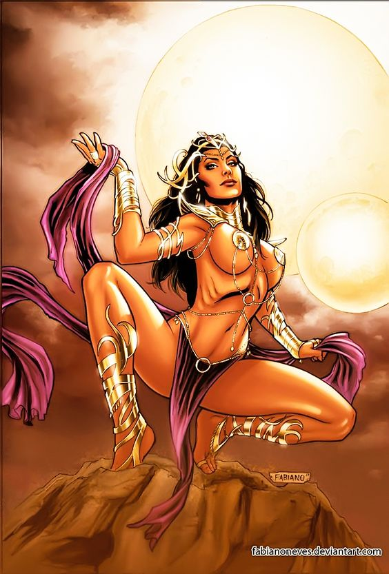 Dejah Thoris 11 Cover Colors by FabianoNeves.devi... on @DeviantArt
