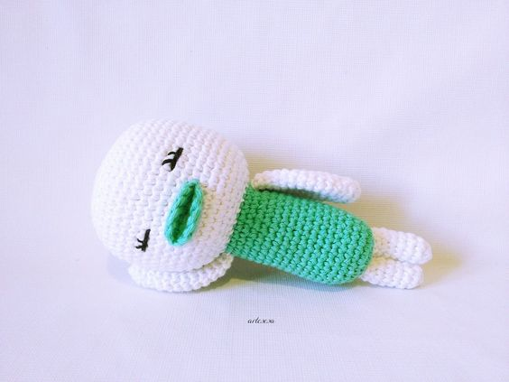 Image of Sonajero Amigurumi Patito * Amigurumi Duckling rattle