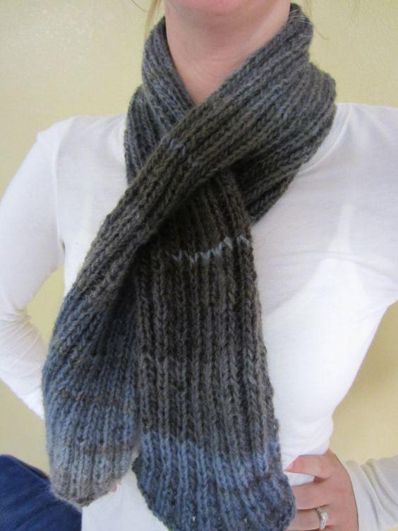 Knit Keyhole Scarf Pattern : Knit Keyhole Scarf Scarfs and Knits