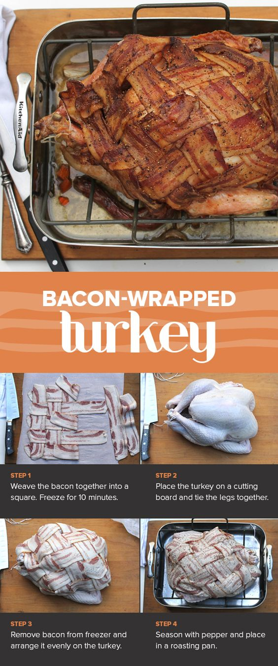As if Thanksgiving couldn't get any more decadent, this show-stopping bacon-wrapped turkey is the ultimate indulgence.