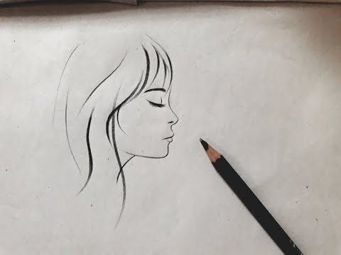 How To Draw A Girl Side Face View Sketch Step By Step For Beginners In 2 Min Girl Drawing Easy Youtube Side Face Drawing Easy Drawings Drawings