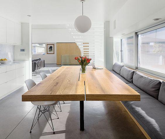 Custom white oak kitchen table Kitchens Pinterest