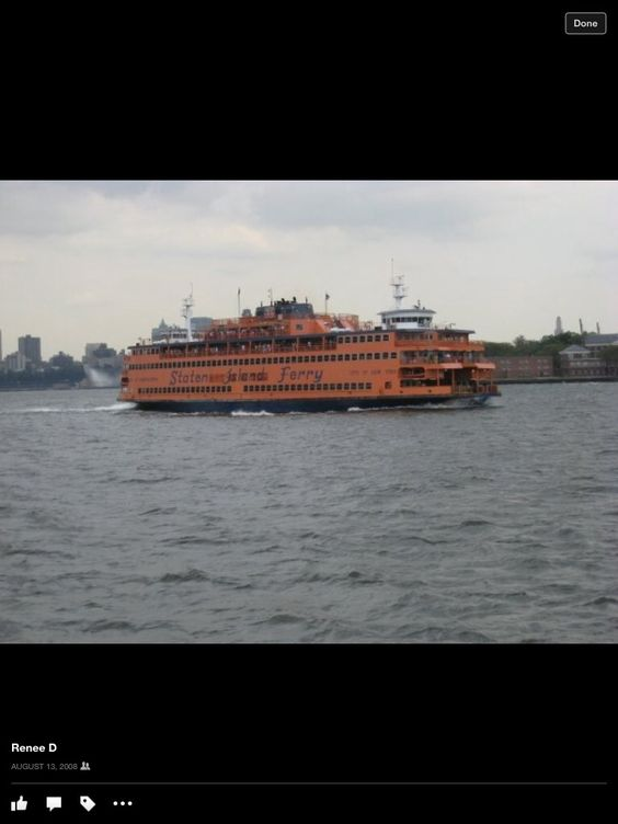 The ferry ride to Staten Island...