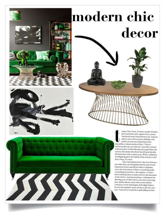 """Modern Chic Decor"" by sarabrowneyes ❤ liked on Polyvore featuring interior, interiors, interior design, home, home decor, interior decorating, Ink & Ivy, Ethan Allen, Pier 1 Imports and modern"