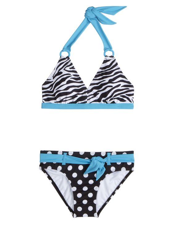 Zebra Dot Bikini Swimsuit | Bikinis | Swimsuits | Shop Justice