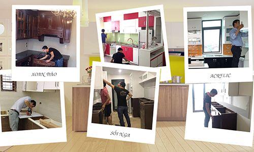 Hình ảnh sửa tủ bếp
