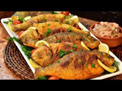 سمك مقلي على طريقة المطاعم مع سر القرمشه وتتبيله مميزه للقلي Cooking Salmon Dinner Mediterranean Recipes