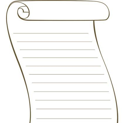 Printable blank scroll template blank template for Scroll outline template