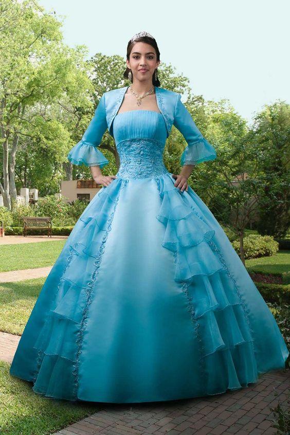 Fresh Strapless Floor Length A Line Quineanera Dresses New Arrival $388.99 Prom Dresses