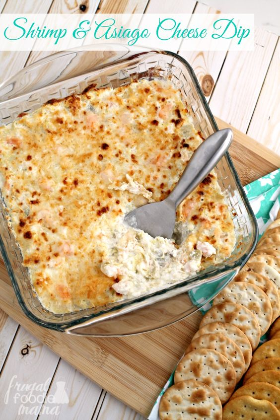 This bold & oh so cheesy Shrimp & Asiago Cheese Dip is served warm from the oven and is sure to become the star of your next holiday party or get-together. #InspiredGathering #ad