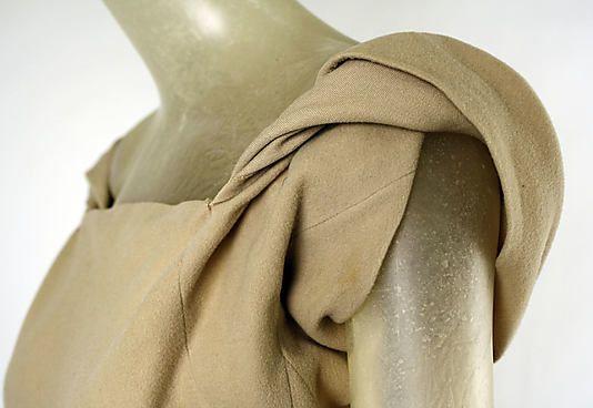 Evening dress Madeleine Vionnet (French, Chilleurs-aux-Bois 1876–1975 Paris) Date: 1934–35 Culture: French Medium: wool. Detail