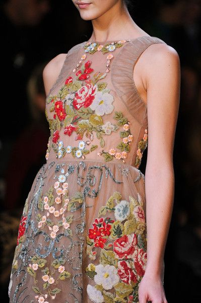 Gorgeous embroidery at Valentino
