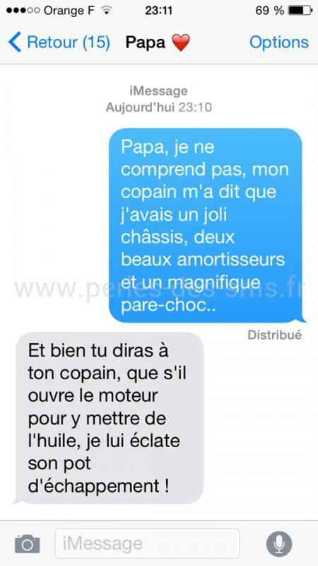 11 plus hilarants SMS père/filles