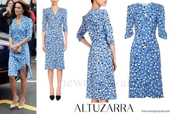 Altuzarra Aimee Polka-dot Button-front Dress