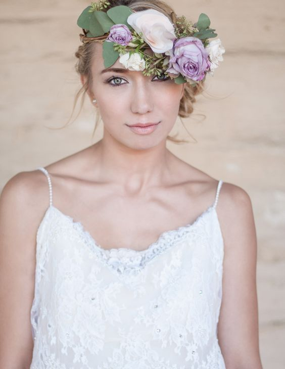 Wedding Hair and Make up by Julie Morgan | See more on SMP - http://www.StyleMePretty.com/little-black-book-blog/2014/01/21/organic-santa-barbra-historical-museum-wedding-ideas/ Antonio Crutchley Photography