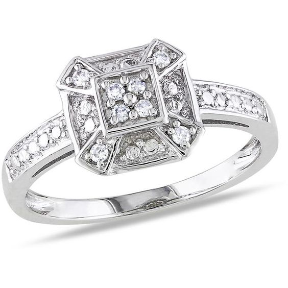 Julie Leah Sterling Silver Ring with Diamond Accents