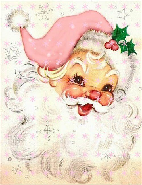 Decor To Adore Pink Santa Claus