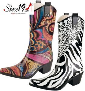 Rubber Cowboy Boots - Cr Boot
