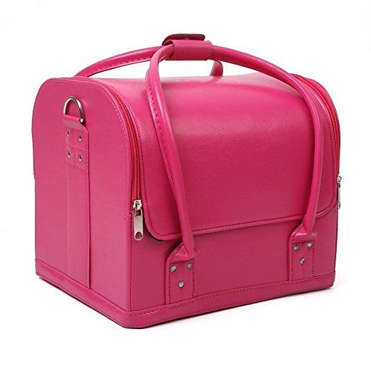 Mvpower Professional Large Removable Pu Leather Cosmetic Makeup Vanity Box Jewelry Saloon Case Bag Makeup Vanity Box Makeup Bag Organization Makeup Cosmetics