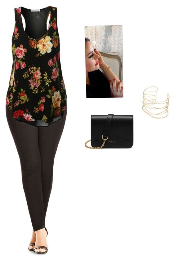 """Untitled #2228"" by joanna-111 ❤ liked on Polyvore featuring City Chic and Mulberry"