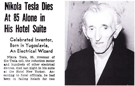 "On the night of January 7, 1943, the eve of the Orthodox Christmas, snow fell on New York City. In a darkened room on the thirty-third floor of the Hotel New Yorker, Tesla lay listening to the clamor of traffic below. His great legacy, the technological world he had helped create, would continue without him. There would be no more riveting announcements, or shrieks of ""Eureka,"" or terrifying bolts of lightning leaping in his laboratory. The pigeons on the window ledge stirred their feet and ruff"