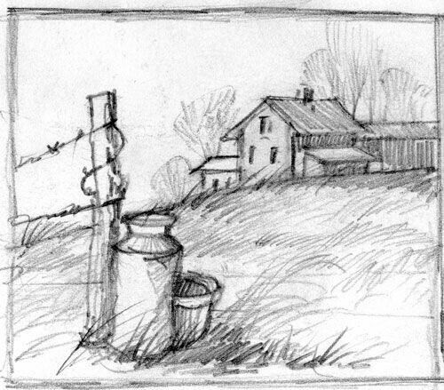 Pin By Lucky Paswan On Drawings In 2020 Barn Drawing Sketches Landscape Drawings