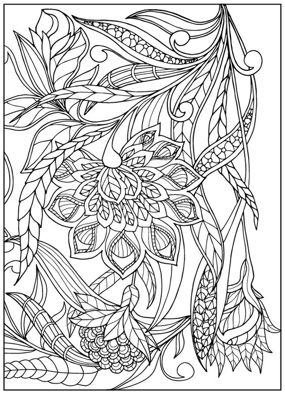 Galerry vintage flower coloring pages