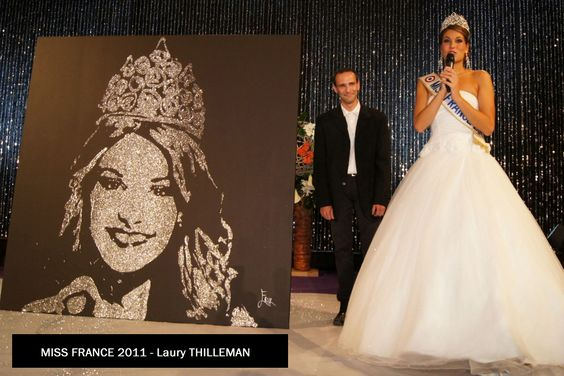 Laury THILLEMAN By EriK BLACK PAINTING   Glitter and Speed painting - Artist performer