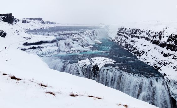 Gullfoss Waterfall! Don't miss the top 10 things to do in Iceland! Click through to read the whole post!