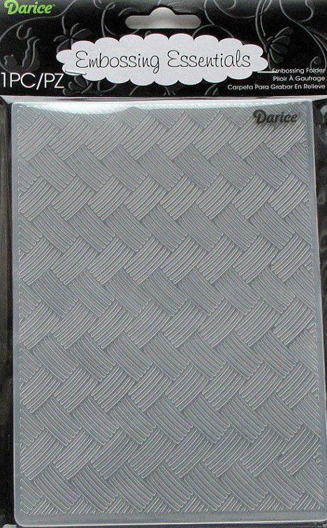 Basket Weave Embossing Folder Darice A2 compatible most machines 14.5cm x 10.5cm