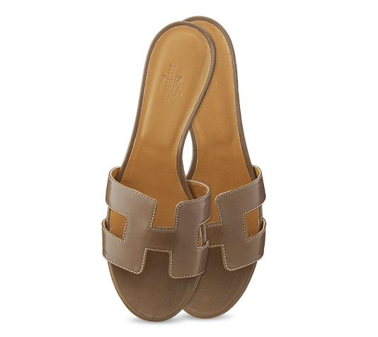 kelly bags hermes - Oasis Leather Sandals Hermes ladies' sandal in taupe kid skin with ...