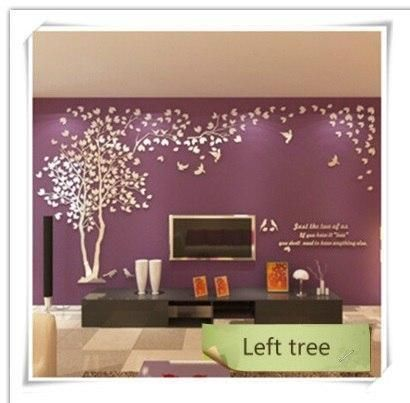 3d Wall Sticker Tree Acrylic Decorative Diy Art Tv Background Wall Poster Home Decor Bedroom Living Wall Posters Bedroom Mirror Wall Stickers Bedroom Posters